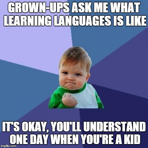 language learning success kid