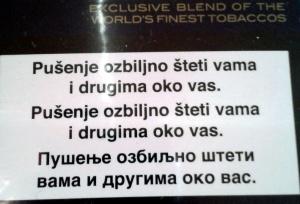trilingual serbocroatian dialect former yugoslavia