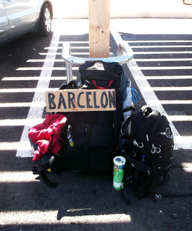 Hitchhiking to Barcelona
