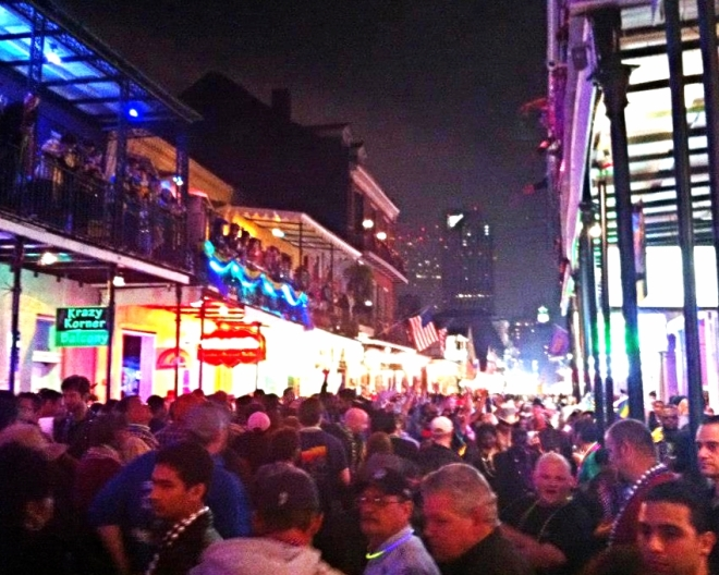 Mardi Gras Bourbon Street